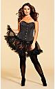 Plus Size Aria Satin Corset - Black