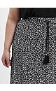 Black Animal Print Tiered Maxi Skirt