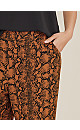 Brown Snake Soft Crepe Wide Leg Trousers