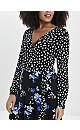 Black Floral Print Mix and Match Wrap Dress