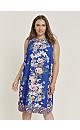 Blue Floral Print Shift Dress