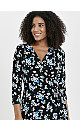 Black Mutlicoloured Floral Midi Dress