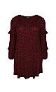 Red Heart Print Tunic Dress