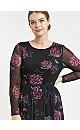 Black Floral Mesh Dress
