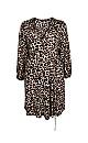 Neutral Animal Print Jersey Wrap Dress