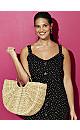 Black Polka Dot Button Dress