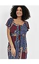 Multi Colour Patchwork Print Maxi Dress