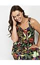 Black Tropical Print Maxi Dress