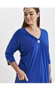 Blue Button Pocket Dress