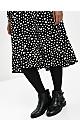 Black Polka Dot Frill Hem Dress
