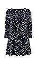 Navy Blue Polka Dot Shift Dress