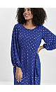 Blue Foil Frill Dress