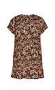 Brown Leopard Print Tunic Dress