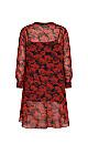 **Live Unlimited Red Floral Dress