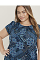 Blue Paisly Print Shell Top