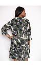 Blush Khaki Palm Print Dress