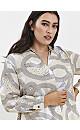 Boutique Neutral Swirl Print Shirt