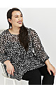 Black Patterned Tunic Top
