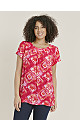 Red Tie Dye Shell Top