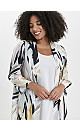 Grey Palm Print Sparkle Kimono