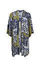 Blue Patchwork Print Sparkle Kimono