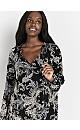 Black Paisley Print Tunic Top