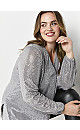 Silver Sequin Tunic Top