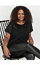 Black Sequin T-Shirt