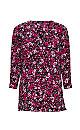 Pink Ditsy Floral Print Shirt