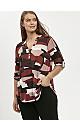 Red Geometric Print Jersey Shirt