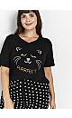 Black Cat Slogan Pyjamas