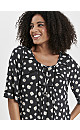 Black Daisy Print Crochet Top
