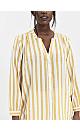 Yellow Stripe Print Button Shirt