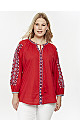Red Embroidered Gypsy Blouse