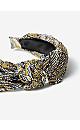 Yellow Paisley Print Pleat Knot Headband