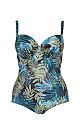 Khaki Palm Print Underwired Swimsuit