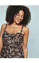 Leopard Print Twist Front Swimdress