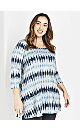 Blue Geo Print Soft Touch Tunic