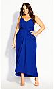 Plus Size Luciana Maxi Dress - cobalt