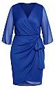 Softly Wrap Dress - cobalt