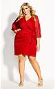 Softly Wrap Dress - red