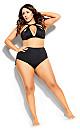 Cancun Underwire Bikini Top - black