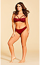 Eve Microfiber Strappy Thong - Scooter Red