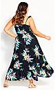 Elba Frill Maxi Dress -  black