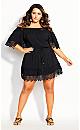 Crochet Detail Dress - black