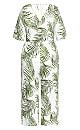 Plus Size Oahu Jumpsuit - white