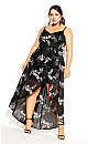 Glam Embroidered Maxi Dress - black