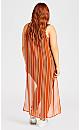 Plus Size Noosa Print Tunic - orange