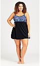 Plus Size Margot Swim Dress - blue