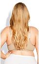 Plus Size Soft Caress Bra - beige